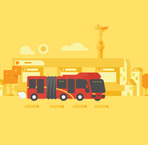 Google Transit. A Illustration, Motion Graphics, and Animation project by Sociedad Fantasma         - 20.02.2017