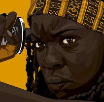 Michonne The Walking Dead by RexNuevo proyecto. A Illustration project by Carlos Rex Estrada         - 24.02.2017