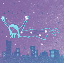 Mi Proyecto del curso: Ilustración original de tu puño y tableta. Stardust. A Illustration project by Alicia Velázquez - 27-02-2017