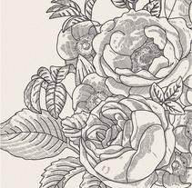 Ilustración vectorial fondo floral. Un proyecto de Ilustración y Bellas Artes de Ana  Sansó - 30-11-2016