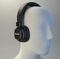 Marshall headphones. Un proyecto de 3D de serrano_luis23         - 02.03.2017
