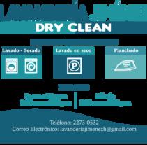 Diseño de Rotulo en lona para una lavanderías. Copyright. Un proyecto de Br, ing e Identidad y Diseño gráfico de Patricia Calderón Jiménez         - 02.03.2017