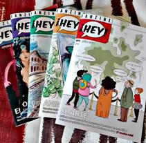 Fanzine ¡Hey! (2014-actualidad). Un proyecto de Ilustración, Diseño editorial, Escritura y Comic de Diego Canalejas         - 24.03.2018