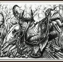 Surrealismo - Freeart - Bolígrafo Bic. Um projeto de Design, Ilustração, Design de personagens, Artesanato e Artes plásticas de Jesús Arias Sancho         - 23.03.2017