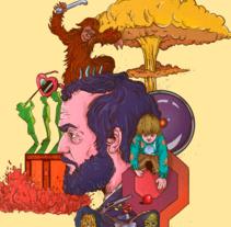 Mi Proyecto del curso: Tecnicas de Ilustración y composición realista para prensa (Portada de Stanley Kubrick). Un proyecto de Diseño, Ilustración, Publicidad, Diseño editorial y Cine de Felipe Vasconcelos - 04-04-2017