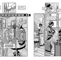 Despedida en un acto.. Un proyecto de Comic de Felipe H. Navarro - 01-03-2017