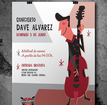 Music poster. A Design&Illustration project by Mónica Hernández         - 04.04.2017