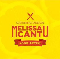 Branding - Melissa Cantu  ~ Food artist ~ Catering design. A Br, ing&Identit project by Thomas Maury         - 13.04.2017