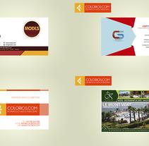 Tarjetas de Visita. Um projeto de Design gráfico de Colorios Publicidad - 13-09-2015