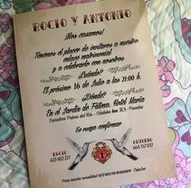 Invitación de boda. Un proyecto de Diseño gráfico de Patricia Vilches - 15-04-2017