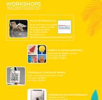 Workshop Posters- Carteles de cursos. Um projeto de Design gráfico de Ana Margarita Martinez Roa         - 21.06.2016