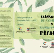 Tríptico  concienciación sobre el medio ambiente.. Um projeto de Design gráfico de Inmaculada  Gutiérrez Mier - 20-07-2016