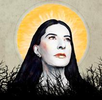 Marina Abramovic . Un proyecto de Ilustración de Lucía Mendoza  - 20-04-2017