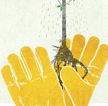 Cartel Jornadas Internacional EHS 2016. Saint Gobain.. Un proyecto de Ilustración y Diseño gráfico de Elvira Inés Lorenzo Lorenzo         - 24.04.2017