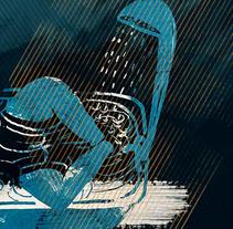 """Ilustación para relato """"Hoy llueve """". A Illustration project by Elvira Inés Lorenzo Lorenzo         - 24.04.2017"""