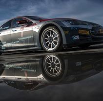 Diseño Tesla Electric GT Championship. Un proyecto de Diseño, Dirección de arte, Br, ing e Identidad, Diseño de automoción, Diseño gráfico, Diseño industrial, Diseño de producto y Señalética de ángel luis sánchez montero         - 04.05.2017