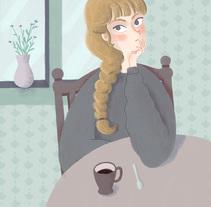 Café frío. Un proyecto de Ilustración y Diseño de personajes de Lorena Mínguez         - 08.05.2017