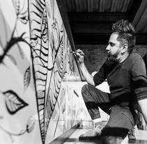 """INTERVENCIÓN ARTÍSTICA EN """"KROW"""". Un proyecto de Diseño de interiores de Paulo Villagran - 17-05-2017"""
