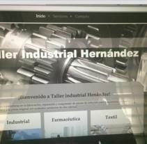 Página web de Taller industrial Harnández. A Web Design project by Penelope Kafie         - 25.05.2017