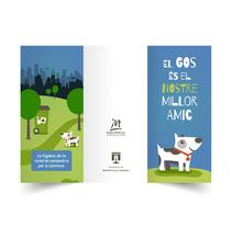 """""""El gos és el nostre millor amic"""" Prototipo / Tríptico. A Graphic Design, and Vector illustration project by Amparo Górriz         - 28.05.2017"""