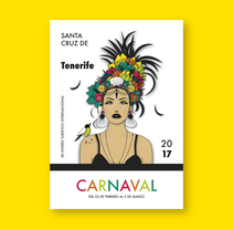 """Canaria"" Cartel Carnaval Tenerife'17 / Prototipo / A1. A Graphic Design, and Vector illustration project by Amparo Górriz         - 28.05.2017"