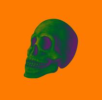 Ilustración DarkSkull para camisetas. A Illustration, Costume Design, and Graphic Design project by Alejandro Zarcero Clavería         - 01.06.2017