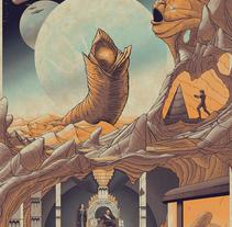 Dune. Un proyecto de Ilustración, Diseño gráfico y Serigrafía de Cristian Eres - 03-06-2017