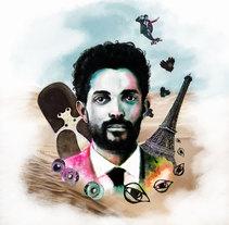 Mi Proyecto del curso: Retrato ilustrado con Photoshop. A Illustration project by Micaela Calderón         - 07.06.2017