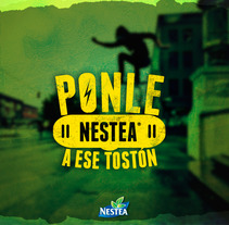 Campaña : Nestea ( Tostón Board ). A Design, Illustration, Advertising, Graphic Design, Lettering, Digital retouching&Icon design project by Gustavo Chourio         - 07.06.2017