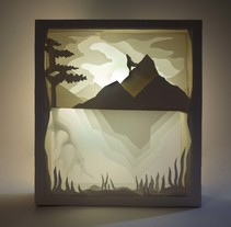 L u z  ·  s o b r e  ·  p a p e l . A Fine Art, Interior Design, Lighting Design, Set Design, and Paper craft project by Patricia Sanjuán  - 09-02-2016