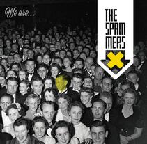 """The Spammers """"We are.."""" demo 2017 CD cover. Un proyecto de Diseño, Dirección de arte y Diseño gráfico de Refrito Studio  - 13-06-2017"""