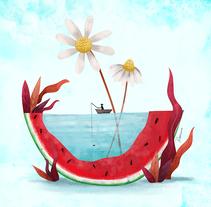 Small people. Summer.. Un proyecto de Ilustración, Dirección de arte, Diseño editorial y Pintura de Rosemarie  - 26-06-2017