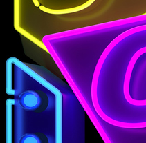 Cubelles - Neon sign. A 3D, Graphic Design, T, and pograph project by Marc Urtasun         - 13.07.2017