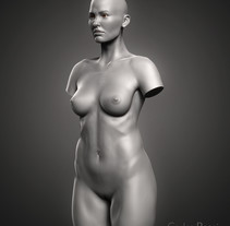 Practice torso woman. A Film, Video, TV, 3D, Fine Art, Sculpture, Film, Infographics, and VFX project by carlos3d_r         - 17.07.2017