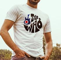 Diseño de camiseta para The Who y Pretty Green en colaboración con Talenthouse. Um projeto de Moda e Ilustración vectorial de Carlota de Mier Macho         - 07.02.2014