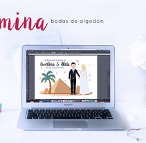 Lámina personalizada: Bodas de algodon. A Design, Illustration, and Vector illustration project by Irene Marti         - 20.06.2017