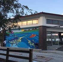 Mural Pampa Argentina,  Costa del Sol Nuevo proyecto. Um projeto de Ilustração e Pintura de Rodolfo Diaz         - 22.07.2017