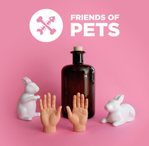 Friends of Pets poster. A Graphic Design project by David Rigote         - 24.07.2017