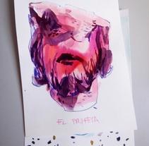 El Profeta. Un proyecto de Ilustración, Bellas Artes, Pintura y Caligrafía de Erika Espinosa - 03-08-2017