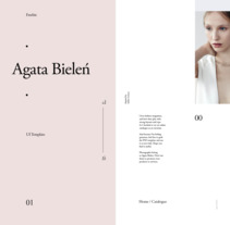 Agata Bielen (freebie). A Art Direction, Graphic Design, Interactive Design, and Web Design project by Adrián Somoza         - 08.08.2017