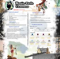 Curriculum Artístico. Un proyecto de Diseño e Ilustración de Rubén  Valle - 08-08-2017