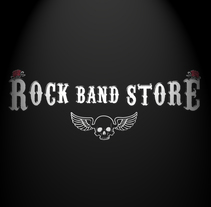 Rock Band Store | Tienda Online | Ropa personalizada | merchandisng. A Design, Advertising, Accessor, Design, Br, ing, Identit, Costume Design, Events, Packaging, Product Design, and Street Art project by Germán Lozano         - 15.08.2017