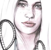 Roller Coaster. Un proyecto de Ilustración y Bellas Artes de Crisbel Robles         - 30.08.2017