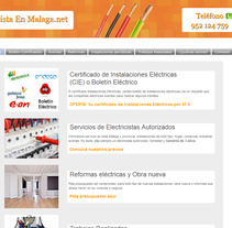 Proyecto Web Electricidad. A Web Design project by Antonio Gonzalez         - 06.09.2017