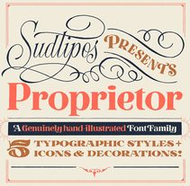 Proprietor — Type Family. A T, and pograph project by Yani & Guille  - 18-09-2017