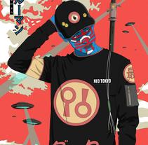UFO attack!  (Burūman series) . A Illustration project by I P LOBATO  - 19-09-2017