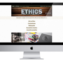 Web ISO en Ética en el Diseño Gráfico. Um projeto de Design gráfico e Web design de José Sangundo         - 04.01.2017