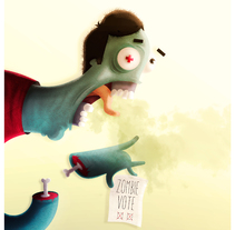 Zombie Vote. A Illustration, Character Design, and Vector illustration project by Manu Berjillos         - 13.10.2017