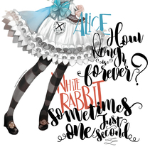 """Alice   """"I miss you a second, I miss you forever...""""  Calligraphy by The White Fox    www.thewhitefox.com.ar. A Calligraph project by Naty Vazquez         - 18.10.2017"""