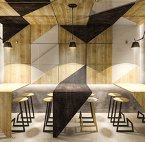 MOSAIK Pan/Café. A Design, 3D, Architecture, Furniture Design, Interior Architecture, Interior Design, Lighting Design, Post-Production&Infographics project by Pablo Marcos Vila         - 20.04.2015